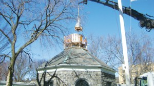 The historic cupola at the J. Hood Wright Recreation Center has been restored. Photo: NYC Department of Parks and Recreation