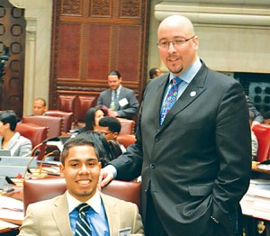 Two State Senators representing District 33: John Galán of Queensborough Community College and Sen. Gustavo Rivera.