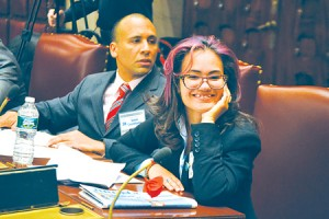 """It's one of wealthiest counties in the state,"" noted Hostos Community College student Adelyn Castro, who represented the 38th District."