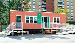 The Community Environmental Center EcoHouse, a mobile exhibit on creating a greener home, is now at Inwood Hill Park.Photo: www.cecenter.org