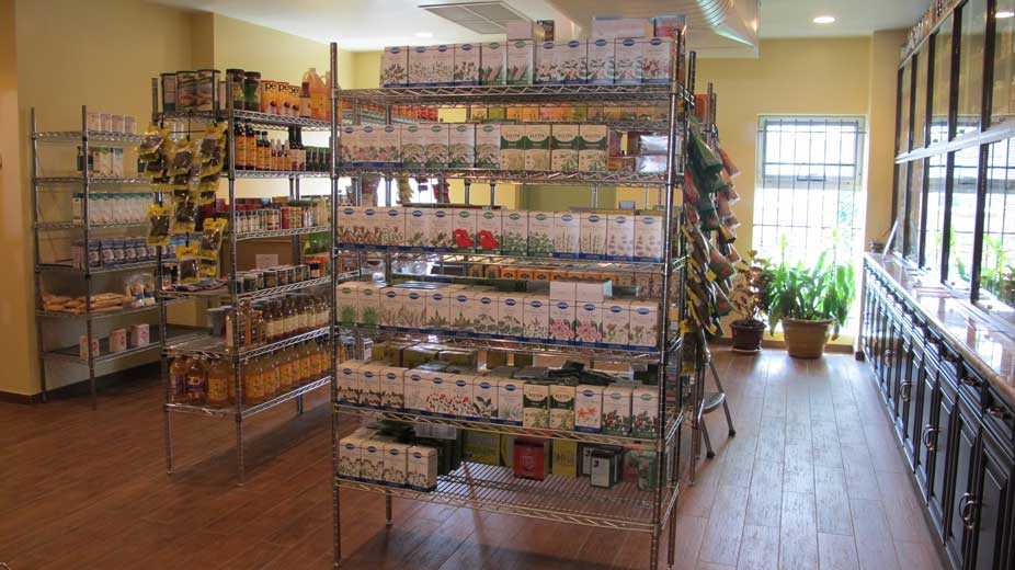 The store stocks a full inventory of healthy products from near and far.
