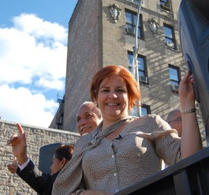 """Vote for Christine Quinn on Tuesday,"" said the mayoral candidate. Photo: QPHOTONYC"
