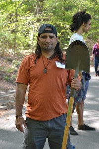 """""""Mother Earth is our foundation,"""" said Luis Ramos of the Shorakapok Earth Keepers, which is leading a waterway revival in Inwood Hill Park."""