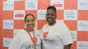 """""""The turnout was great,"""" said Jazmin De La Cruz (left), with event co-chair Takiya Darby (right)."""