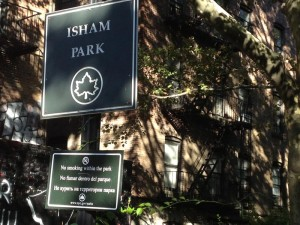 Lall's work was on a strip of Isham Park just beside her building. </br><i>Photo: Gregg McQueen </i>