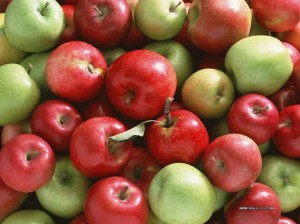 Whether it's in a pie or in a jug of cider, the fruit of the season is apples.
