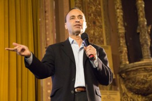 """I wanted to tell people, 'Don't give up',"" explained Congressman (and author) Luis Gutiérrez. </br><i>Photo: M. Cummings </i>"