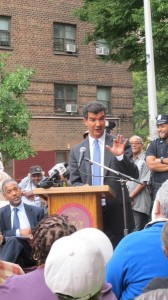 """""""I look forward to the prompt completion of this project,"""" said Councilmember Ydanis Rodríguez, of the installation of cameras at the Marble Hill Houses."""