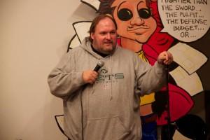 Comedian Jim Mendrinos.