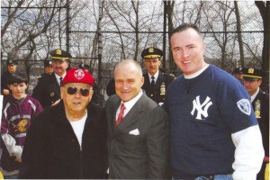 """He had a great reputation for a young cop,"" said Johnny Moynihan (far right), with Ted Buczek (left) and Commissioner Ray Kelly. </br><i>Photo: MJ Buczek </i>"
