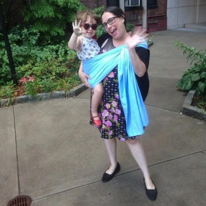 """I've used the same ring sling for my almost three-year-old since she was an infant,"" explains Rachel Figueroa-Levin."