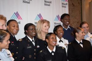 Twenty servicewomen and veterans were in attendance.