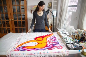 """Work is prayer,"" says visual artist Andrea Arroyo."