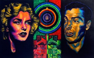 """""""It's judgment-free and meditative,"""" says Morel of his encaustic technique that has produced portraits of figures such as Marilyn Monroe and Joe DiMaggio."""