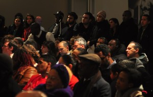 A packed audience of residents paid close attention.