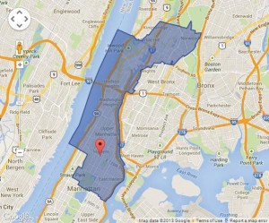The 13th Congressional district covers stretches of Northern Manhattan and the Bronx.
