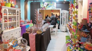 The store is filled with bright coffers of candy.