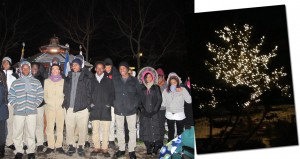 Young voices from the Northeastern Academy choir serenaded attendees at the annual Bruce's Garden tree lighting ceremony. </br><i>Tree Photo: Liz Ritter </i>