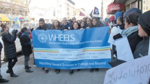 Washington Heights Expeditionary Learning School (WHEELS) students celebrated their Third Annual College March.