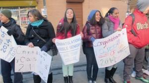 La marcha también incluyó a estudiantes más jóvenes.