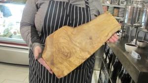 Tablas de cortar de madera de oliva de Túnez.