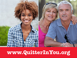 At QuitterInYou.org, you can learn about the various ways to help smokers quit.