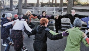 The Morning Fitness Program in Fort Tryon Park goes year-round. </br><i>Photo: Aliza Holtz </i>