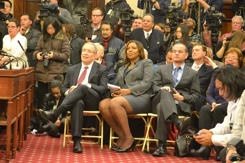 Among those in attendance were newly elected City Comptroller Scott Stringer and Public Advocate Letitia James.