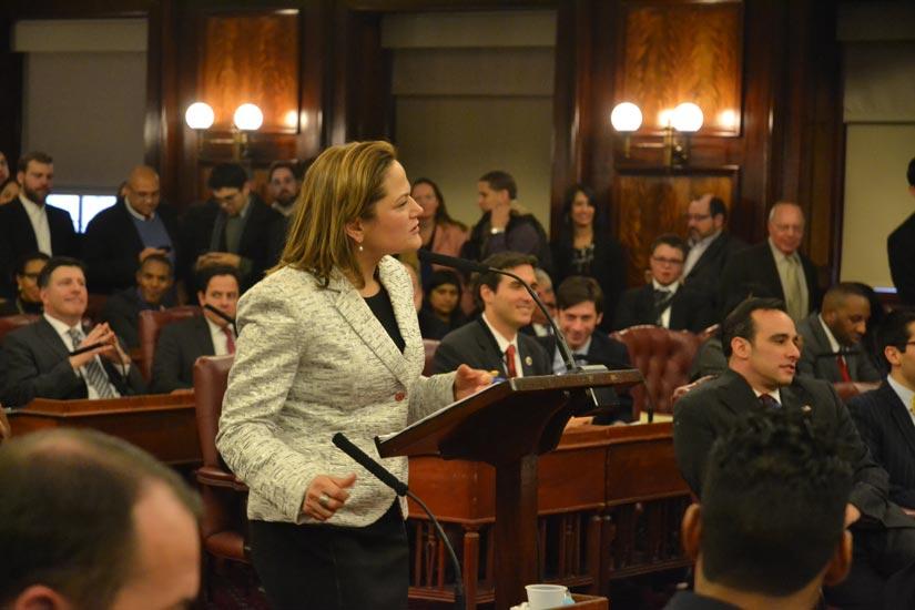 """""""My door will always be open,"""" said Speaker Mark-Viverito."""