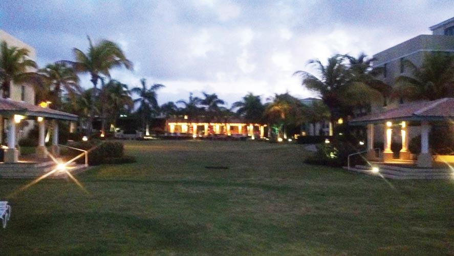 The borrowed family estate.