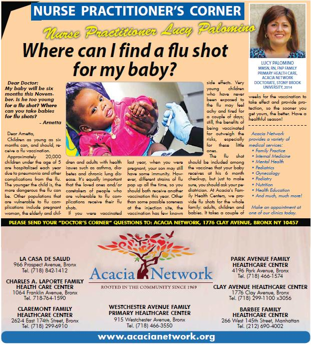 Acacia Answers | Consejos del Doctor - Manhattan Times News