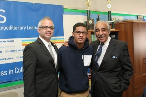 """Students like Estiven inspire us all with hope and optimism for a better America,"" said Congressman Charles Rangel."