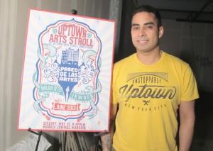 Andrew Short designed the winning poster for last year's Uptown Arts Stroll 2013. </br><i>Photo: Robin Elisabeth Kilmer </i>