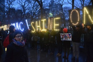 Members of the New York State Youth Leadership Council (NYSYLC) helped organize the rally.