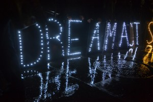 A rally was held in support of the Dream Act.