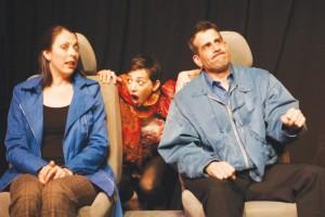 <i>Border Crossing</i> features Amanda Sayle Rinzel, Katie Braden and Tom Pennacchini. </br><i>Photo: Gerry Goodstein</i>