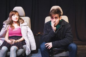 Joe Boover and Laura Darrell appear in <i>Perfect Tension</i>. </br><i>Photo: Gerry Goodstein</i>