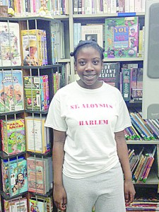 """I'm reading whenever I can,"" remarked seventh grader Raven Gadsden."