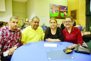 The Simono family included (from left to right) Patrick, Pedro, Zoila and Patricia (in the red blouse).