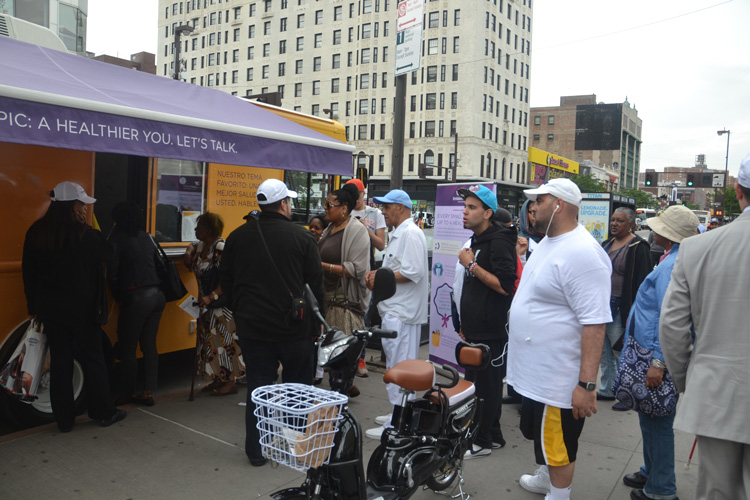 The campaign encourages residents to live healthier.