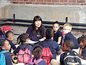 """The High Line's native ecology field trip was a great fit,"" said teacher Shanté Blair."