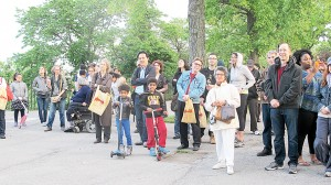 The Art Stroll launch was held at Highbridge Park.