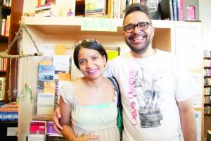 Artistas de DYPG Luanda Lozano (izquierda) y Reynaldo García Pantaleón (derecha).