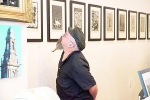 El artista Rene de los Santos.