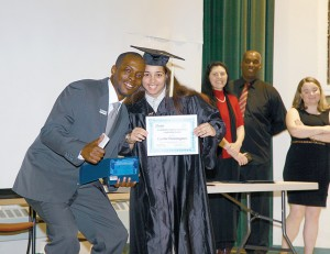 The young adults earn their high school equivalency degrees.