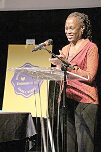"""""""Cooking at home is the best way to eat well,"""" said First Lady Chirlane McCray."""