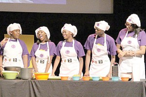 """Harlem students put their cooking skills to the test in the """"Teen Battle Chef Live"""" competition."""
